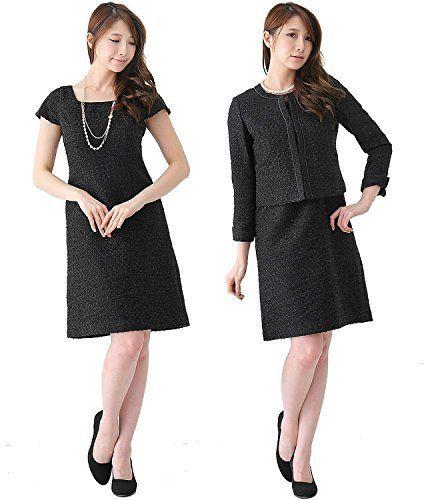 【ワンピーススーツ】レディース 喪服 前開き 授乳対応 ブラックフォーマル 2点セット スーツ 112966142ba - http://ladysfashion.click/items/120708
