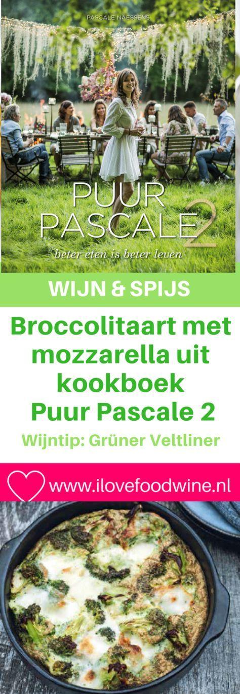 Recept; Broccolitaart uit Puur Pascale 2. Heerlijk vegetarisch hoofdgerecht op Meatless Monday. Snel klaar: de oven doet het werk. Natuurlijk & Gezond. Groentegerecht. #zonder vlees #snel #ovengerecht #gezond