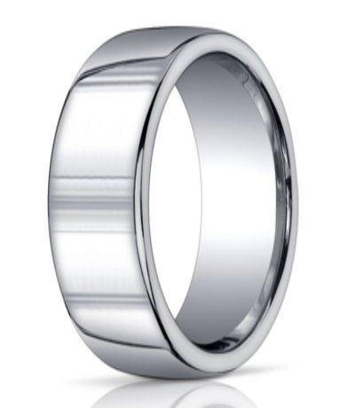Benchmark Argentium Silver Wedding Ring with Domed Band