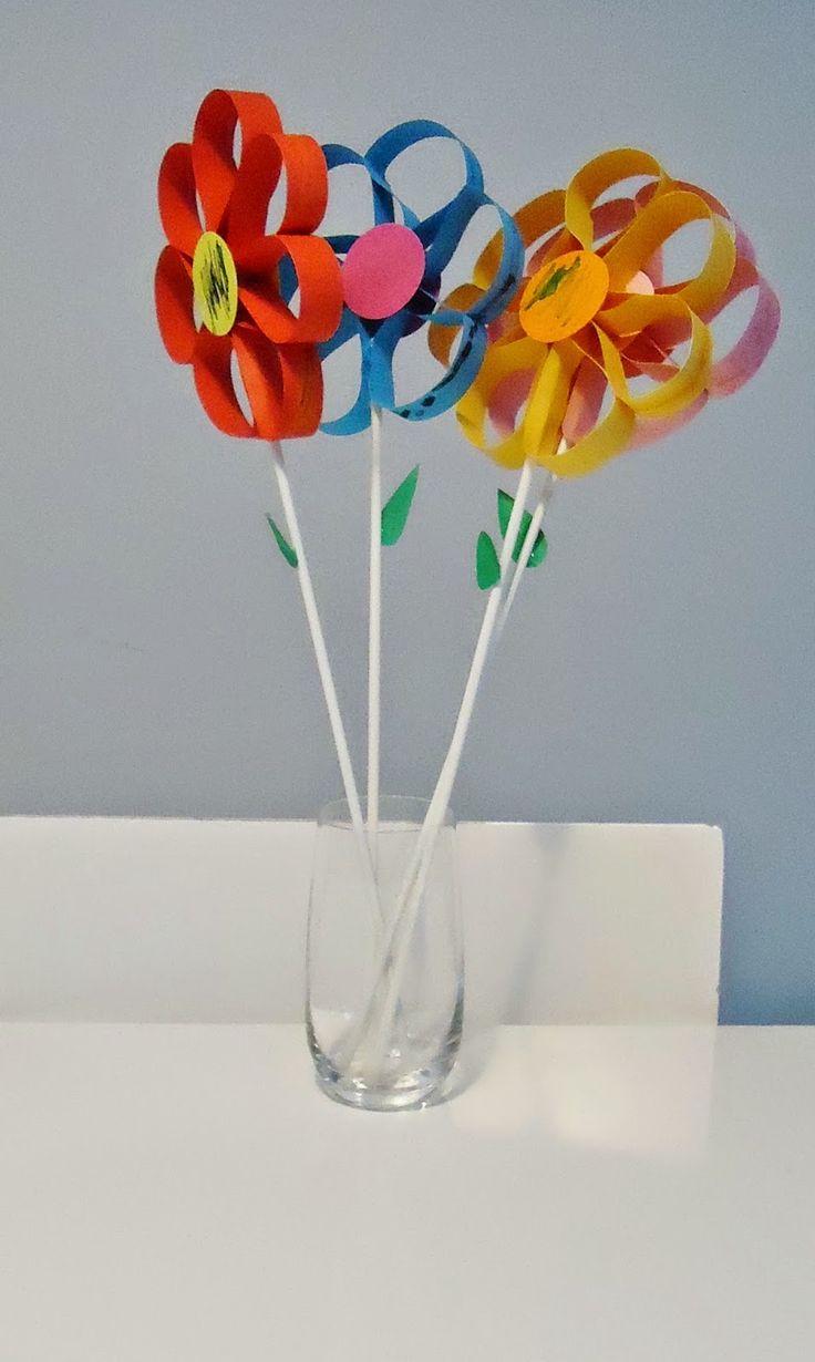 DIY boeketje bloemen in papier