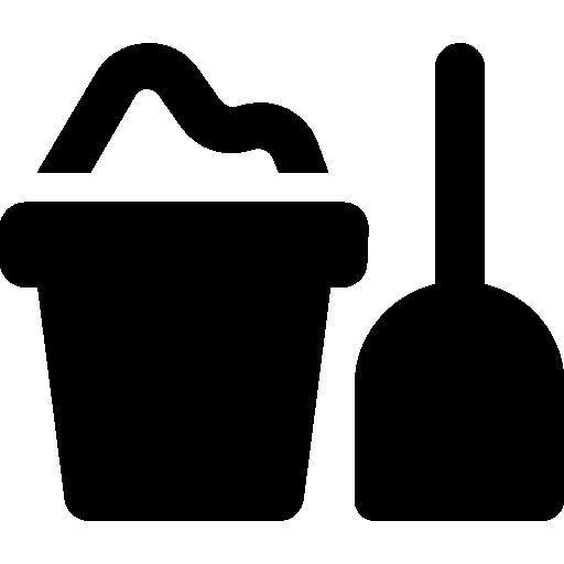 Sand bucket and shovel I Free Icon