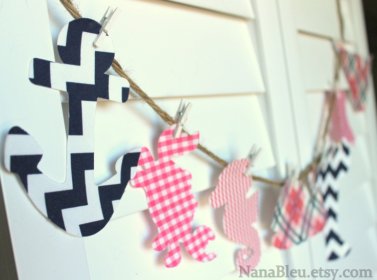 FREE SHIPPING: Set of 15 Nautical iron on shapes for Preppy &