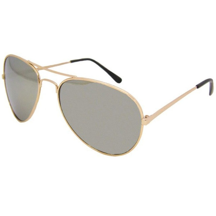 Private Island Party  - Gold Frame and Mirror Lens Aviator Sunglasses 1102, $2.50- $3.99   If you dig the timeless look of the aviator sunglass, but want something with just a bit more flash to it then you should check out our gold framed mirror aviators.