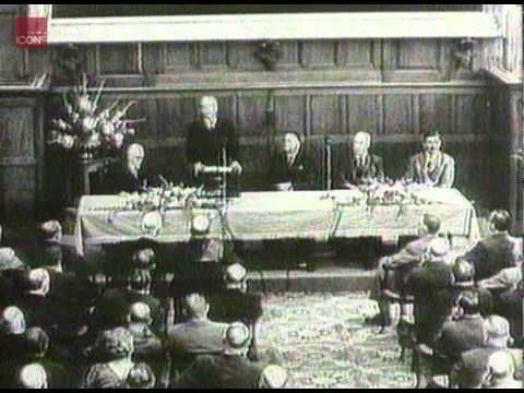 Harold Macmillan giving his Wind of Change speech in South Africa