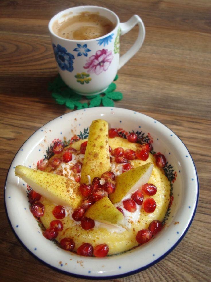 Jagodziana Coffee - jak miło rozpocząć dzień: 151. Waniliowa kaszka kukurydziana z Granatem i Gruszką + Liebster Blog