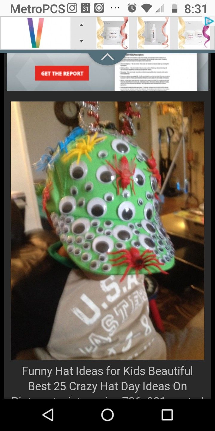 Pin By Rochelle Conyers Perales On Silly Hat Day Crazy Hat Day