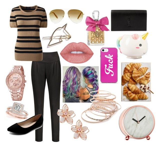 """""""Unicorn offices"""" by scentsysidwell on Polyvore featuring Lands' End, Ollio, Victoria Beckham, Allurez, Juicy Couture, Yves Saint Laurent, NAKAMOL, Red Camel and Elodie"""