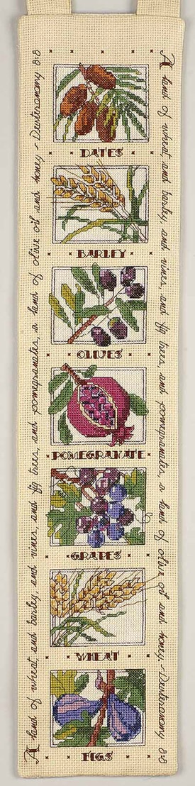 Seven Species Bell Pull - Cross Stitch Kit  Have kit...need to get 'er done!  Reminder!
