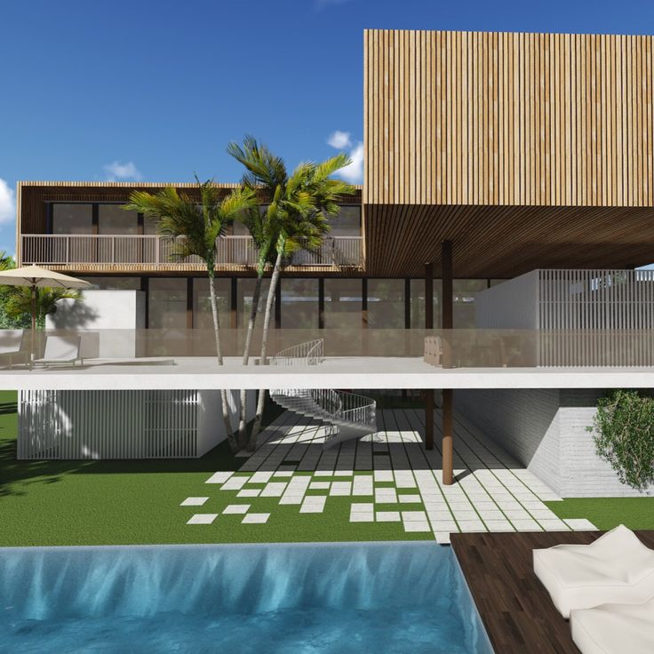 Tropical Modern House, Coconut Grove Fl by Hugo Mijares