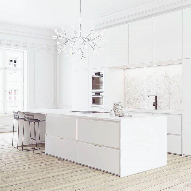 WEBSTA @ rumah.idaman_ - Dapur bersih serba putih karya Nicolas Jouslin. Via @cgincubator...#rumah #desainrumah #rumahimpian #rumahidaman #rumahmewah #dekorasirumah #desainrumah #dekorasi #desain #desaininterior #arsitek #house #home #homedecor #design #interiordesign #architect #architecture #decoration #homedesign #interior #exterior #instahome #colour #beautiful #kitchen #dapur