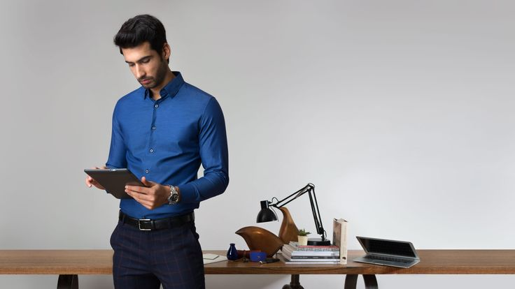 Buy The Navy Herringbone Formal Shirts Online at Andamen at the best price. Andamen is the largest online shopping portal for premium shirts in India