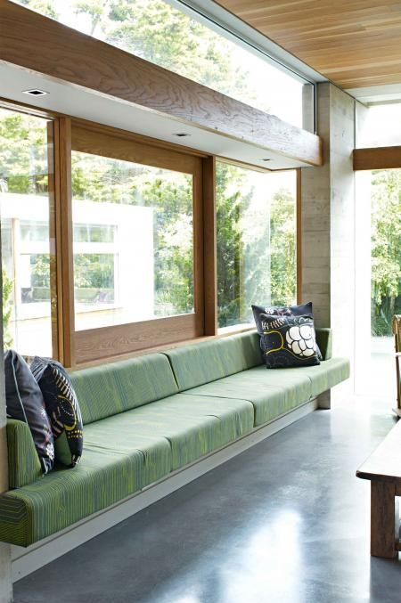 green-benchseat-polished-concrete-floors