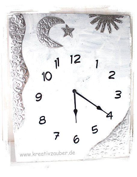 Uhr basteln anleitung  119 besten Uhren selber bauen ☆ Uhrenbasteln Bilder auf Pinterest ...