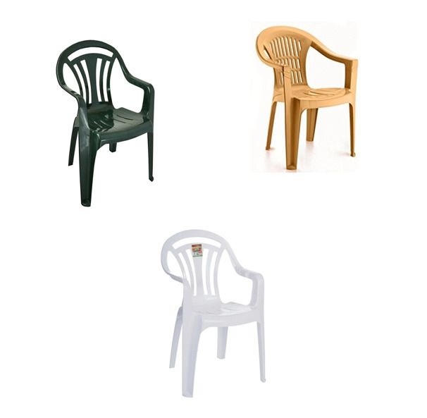 Details About Plastic Low Back Chairs Garden Stackable Chair Patio