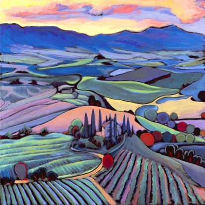 'Sunset Tuscany' - A favorite painting by Portland artist ...