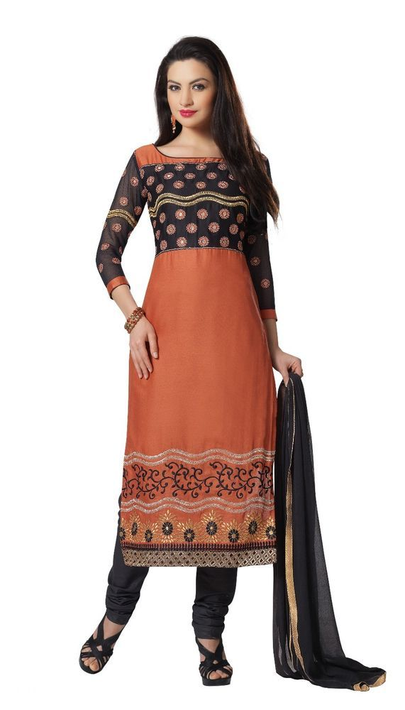 New Indian Ethnic Fancy Designer Straight Salwar Kameez Cotton Dress Material #Unbranded #IndianStraightsalwarSuit