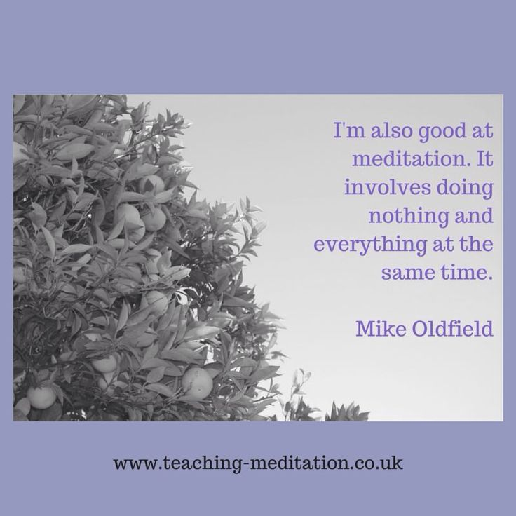 Meditation = nothing & everything Mike Oldfield