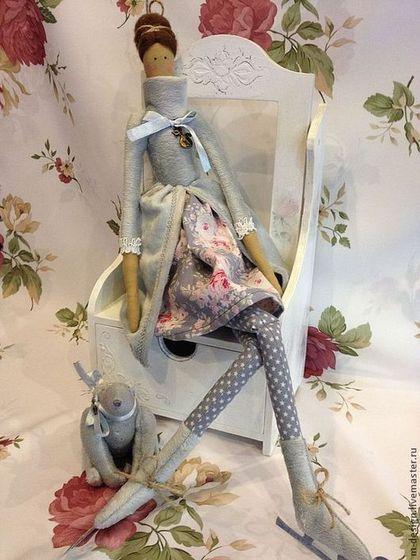 Куклы Тильды ручной работы. Ярмарка Мастеров - ручная работа Скейтинг Ангел с другом (продана). Handmade.