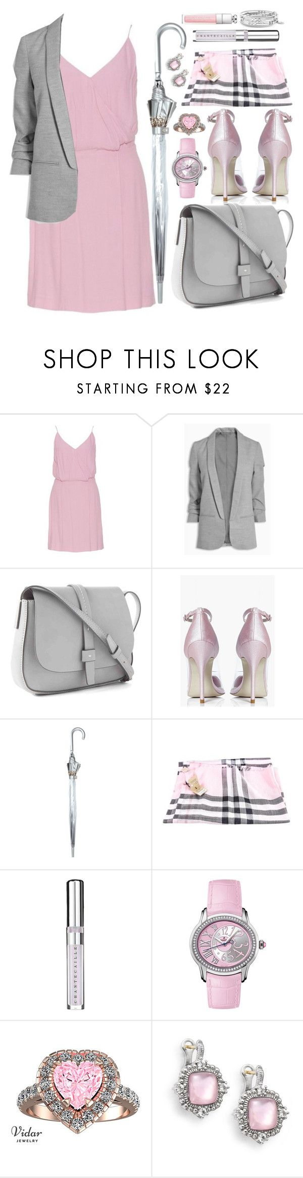 """Grayish Pink"" by maheanani ❤ liked on Polyvore featuring Gap, Boohoo, Fulton, Chantecaille, Audemars Piguet, Judith Ripka and Jessica Simpson"