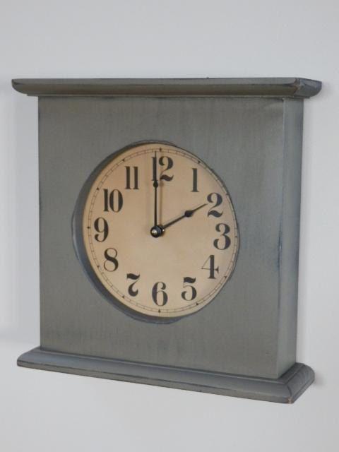Primitive Mantel Clock by CountryThymeClocks on Etsy