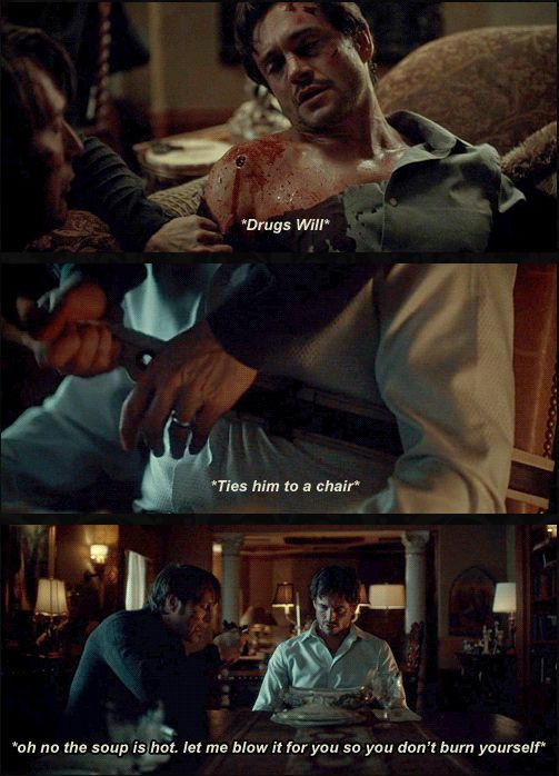 #I'm a cannibal but I'll make sure you won't burn your tongue you precious baby. Hannibal edit. Source: sherlock-hannibal.tumblr