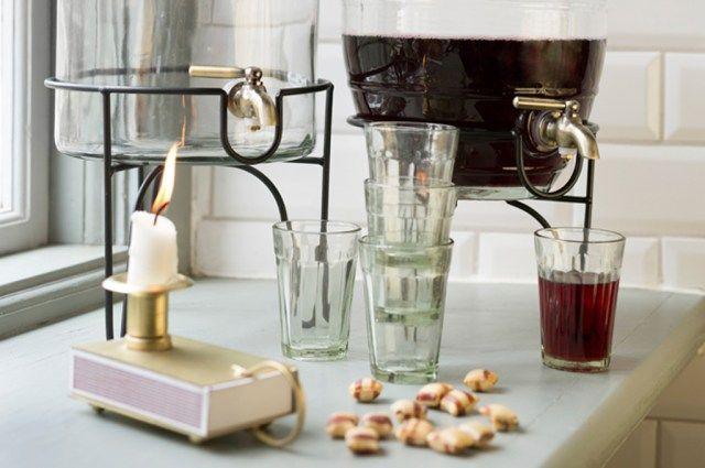 Stromshaga, Strömshaga, glass, kitchen, kök, glasburk med kran, duka, servera