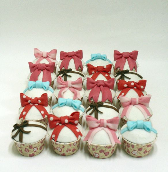 50 Best Images About Bow Cupcakes Adorable Bows On