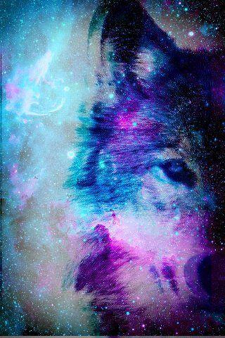 Galaxy Wolf... Soo Cool Since My Spiritual Guide Animal Is A Wolf <3