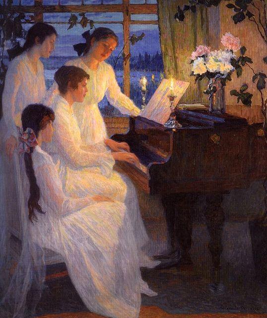 Bogdanov-Belsky, Nikolai (1868-1945) - 1910 Symphony (Private Collection) by RasMarley, via Flickr:
