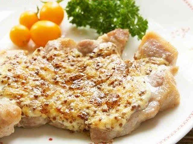 トースターで♫豚肉のマスタードマヨ焼きの画像