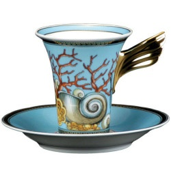 Versace / Rosenthal La Mer - Now that's a cup to sip Coffee.Versace, Teas Time, Teas Cups, China Teacups, Coffee, Teas Sets, Rosenthal La, The Mer, Tea Cups