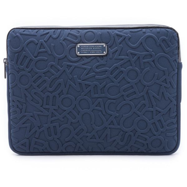 """""""Marc by Marc Jacobs Scrambled Logo Neoprene 13"""""""" Computer Case"""" (250 BRL) ❤ liked on Polyvore featuring accessories, tech accessories, amalfi coast, marc by marc jacobs, marc by marc jacobs laptop case, padded laptop case and neoprene laptop case"""