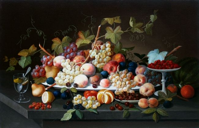 Antique Dealers Association of America - A Large American Still Life Painting by Severin Roesen and his Studio.