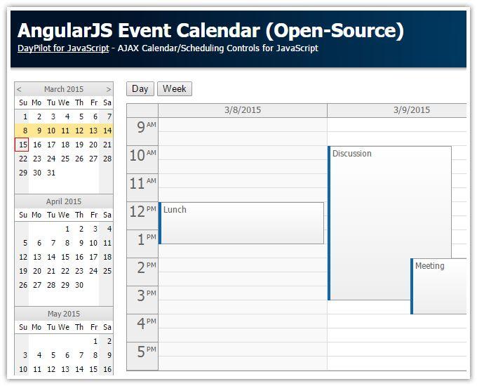 AngularJS Event Calendar/Scheduler