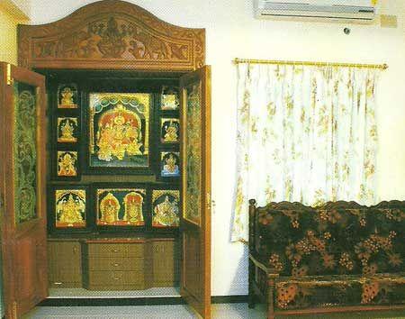 Modular Pooja Room,Modular Pooja Room Cabinet,Wooden Pooja Room