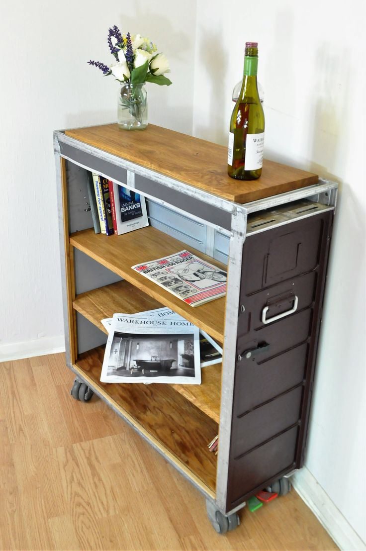 Airline Trolley Shelves Made from Airbus A340 Galley Cart with Oak shelves. By DappR Aviation