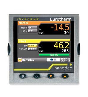 """Registrador / controlador Nanodac. - Ethernet/IP como Cliente o Servidor - 3 x Salidas Analógicas Aisladas (DDD) - Carcasa IP66 - Pantalla a Color de 3,5"""" - Adquisición y Registro de Datos Seguro - Hasta 2 Lazos de control PID"""