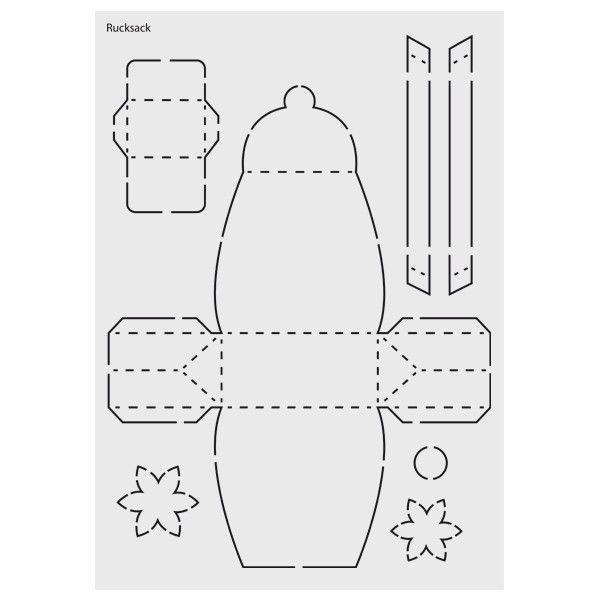 Design Schablone Nr 4 Rucksack Din A4 Schablonen Tute Basteln Basteln Mit Papier