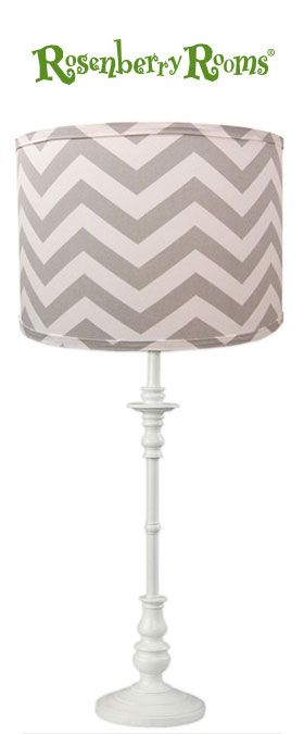 Make a modern statement in your child's room with the Grey Chevron Lamp Shade from Doodlefish Kids!   This adorable lamp shade features a contemporary and zig zag pattern in shades of gray and white!