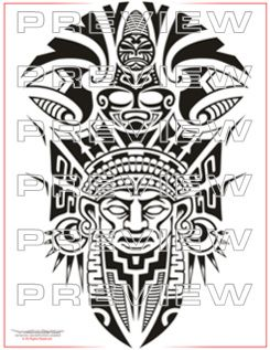mayan totem tattoo images galleries with a bite. Black Bedroom Furniture Sets. Home Design Ideas