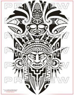 awesome aztec tattoo esign full sleeve totem