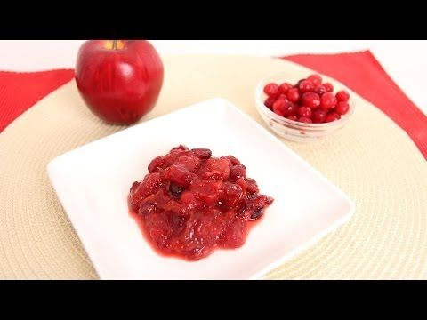 ▶ Cherry Apple Cranberry Sauce Recipe - Laura Vitale - Laura in the Kitchen Episode 668 - YouTube