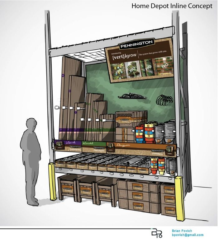 Display / Merchandising Concept Development by Brian Povich at Coroflot.com
