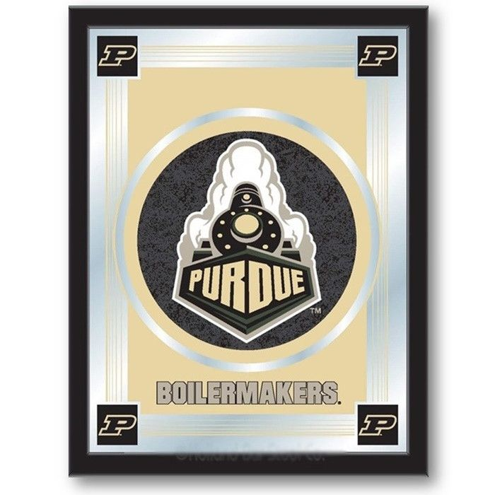 [[start tab]] Description The perfect way to show your Purdue University Boilermakers pride, our Logo Mirror displays the Boilermakers symbols with a style that fits any setting. With it's simple but