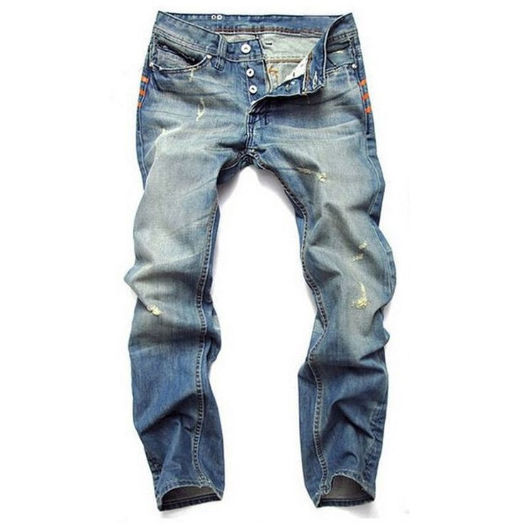 Buy 2019 New Fashion Hole Jeans Men Long Trousers Skinny Ripped Distressed Jeans Masculino Denim Pants Plus Size 42 Dsq Jeans at Wholesale Price. Free or Lowcost Worldwide Shipping. And large of options in our best Jeans category with cheapest price on Pricetug.com Lässigen Jeans, Ripped Jeans Men, Biker Jeans, Loose Jeans, Denim Pants, Jean Shorts, Male Jeans, Blue Trousers, Denim Leggings