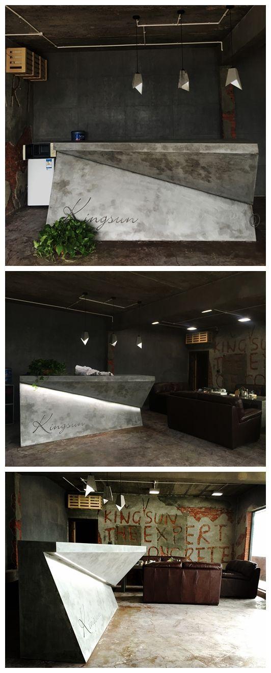 concrete reception desk #concrete# #interior#