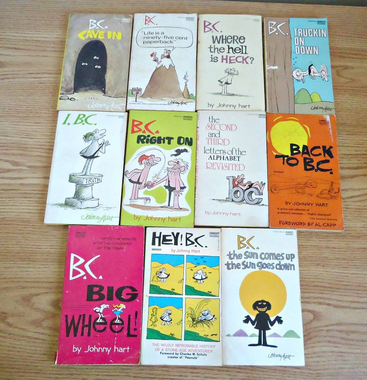 11 Vintage B.C. Comic Paperback Books by Johnny Hart Hey B.C. 1970's by TreasureCoveAlly on Etsy