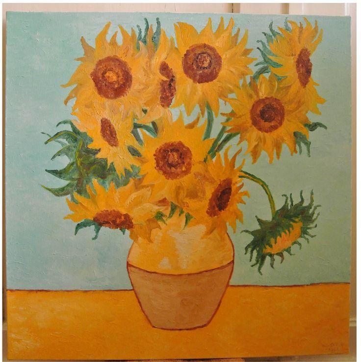"""I Girasoli di Van Gogh"""" olio su tela... scopri la mia arte su http://www.arch-garden.it/la-mia-arte.html"""