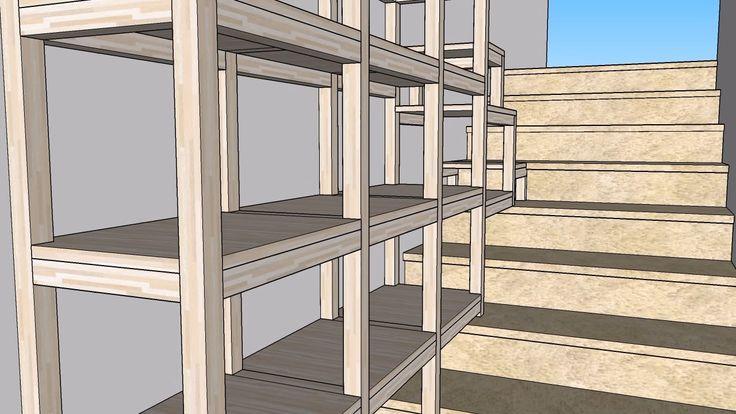 Recupero spazi in vano scala - Il progetto