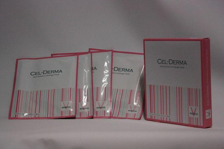 CEL-DERMA 4 pcs/Anti-Wrinkle/48hours Moisturizing/Hydrogel Face Mask/Season V